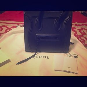 Celine Black Phantom Tote Handbag